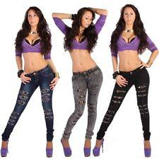 Jeans da donna alte grigio