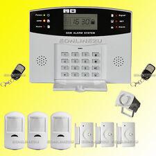 LCD Security Wireless Mobile SIM GSM Autodial Home House Burglar Intruder Alarm