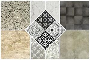 Vinyl Floor Tiles Self Adhesive Textured Grip Flooring DIY Kitchen Bathroom Home