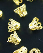 Wholesale Gold /Silver/Copper Plated Cup Bead Caps Jewelry Findings 6mm/8mm