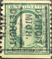 Scott #412 US 1 Cent 1912 Washington Coil Postage Stamp Precancel XF NH