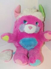 "Vintage Pink Prize Popple blue tummy green white 12"" worn used condition"