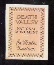 1934 Death Valley National Monument, California Poster Stamp