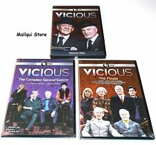 VICIOUS THE COMPLETE SEASONS 1-3 (1,2 + The Finale) DVD 4 DISC - BRAND NEW!