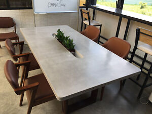Concrete Dining Conference Work Table indoor outdoor