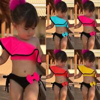 2PCS Summer Toddler Kids Baby Girls Bikini Set Swimwear Swimsuit Bathing Suit