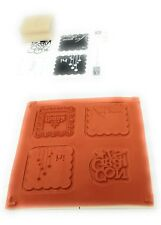 Stampin Up Say It With Scallops Rubber Stamp Set of 4 For You Hi Congrats Thank