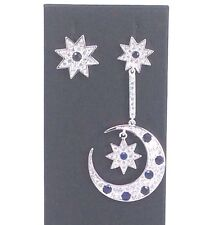 Sapphire Sun Moon Earring Combo - House of Hollis Jewellery