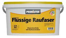 Primaster Flüssige Raufaser 2,5 l weiß Innenfarbe Rauhfaser Dispersionsfarbe