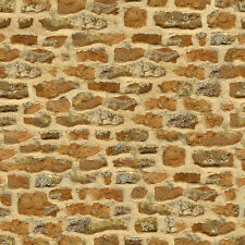 8 SHEETS EMBOSSED  PAPER stone wall 20x28cm each SCALE  1/43 o
