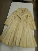 Vintage 50s 60s Glam Glamour Genuine Mink Fur Coat Tourmaline Full Length (H100)