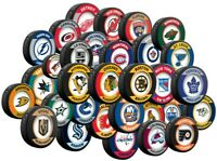 NHL Retro Souvenir Collector Hockey Pucks by Inglasco - All 32 Teams Available
