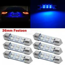 6x Super Bright Blue 6 SMD 6418 LED Interior Dome Light Bulbs 36MM Festoon 6418