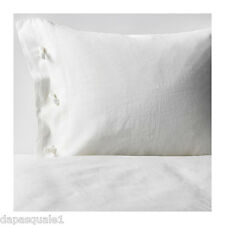IKEA LINBLOMMA - Duvet Cover and Pillowcase Twin Size Off-White Linen