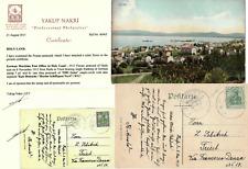 German Templer Colony PC 1912 Maritime Ship post SMS GEIER No 67 Haifa Palestine