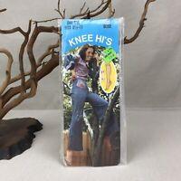 Fine Sheer Knee Hi's Vintage Nylon One Size Fits 8 1/2 -11 Beige 9013
