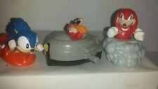 Vintage 1993 Sega Sonic the hedgehog toys / cake toppers FREE SHIPPING CAN USA
