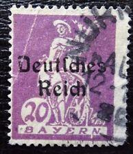 Imperio alemán 122 pf IV placas errores, Baviera con inscripciones, con sello