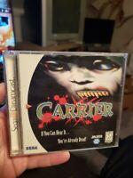 Carrier (Sega Dreamcast, 2000) Complete Tested Rare MINT
