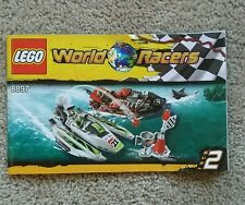 LEGO 8897 INSTRUCTION MANUAL ONLY World Racers Jagged Jaws Reef RARE Retired Set