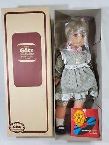 """LM VINTAGE Gotz GTC Walking Talking Singing West Germany 22"""" Doll Dolly NEW NIB"""
