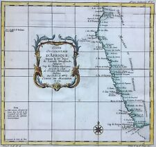 Southwest Africa 1739 South Africa Namibia Angola Cape by Bellin antique map