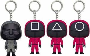Squid Game Masked Person Keychain Pendant Car Ornaments Backpack Decoration