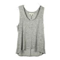 Express Soft Spun Stretch Knit Tank Top Size L Marled Gray Sleeveless Hi-Lo NEW!