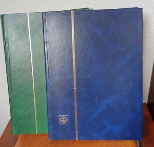 Briefmarkenalben 2 blau + g in  jeweils 16 Blätter = 32 Seiten einwandfrei,