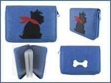 Lavishy Vegan Leather Scottish Terrier Applique ZIP Closure Wallet Card Holder