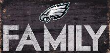 "Philadelphia Eagles FAMILY Football Wood Sign - NEW 12"" x 6""  Decoration Gift"