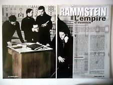 COUPURE DE PRESSE-CLIPPING :  RAMMSTEIN [4pages] 03/2001 Richard Kruspe,Mutter