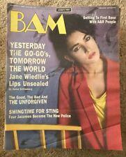 BAM MUSIC MAGAZINE - JANE WIEDLIN-GO GO's - UNFORGIVEN - STING  Nov 1 1985 #218