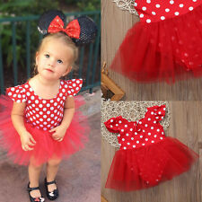 Summer Girls Kid Dress Princess Polka Dot Party Wedding Prom Romper Dresses 0-3Y