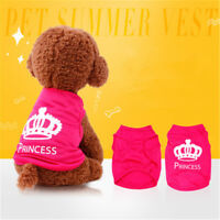 Pet Dog Clothes Puppy Vest T-shirt Shirt Cute Princess Pajamas Cat Spring Summer