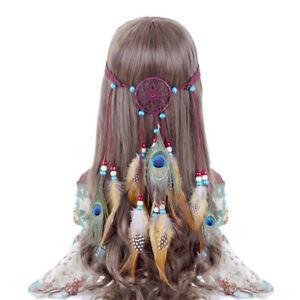 Feather Headband Dream Catcher Hair band Tassel Carnival Hippie Hairband Indian