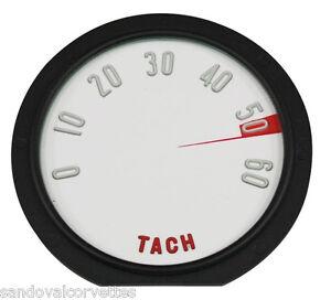 1958 Corvette Tach Lens 6000 RPM 58