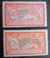 France 2 TP 1900-20 Neufs* 40C + 2F Merson  n°s 119 + 145 côte totale 117 €