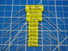 630V 0.1uF Axial Film Capacitors/Long Lead - Cary Electronic MKS Series - 5Pcs