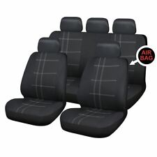 UKB4C Black Full Set Front & Rear Car Seat Covers for Fiat Punto All Years