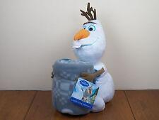 "Frozen Olaf 40""x50"" Fleece Throw Blanket AND 13"" Plush Doll Hugger Pillow *NEW*"