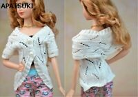 Handmade Doll Accesssories Fashion Knitting Sweater Coat For 11.5in Doll Clothes