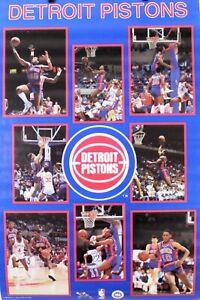 Vintage 1987 DETROIT PISTONS 34 x 22 Bad Boys NBA Starline Poster RARE