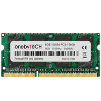 8GB 1x8GB DDR3-1333 PC3-10600 240 Pin CL9 1.5V SODIMM Laptop Notebook Memory RAM