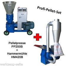Pelletpresse Hammermühle Set Pellets Futterpresse Presse PP200B