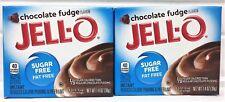 Jello Sugar Free Chocolate Fudge Instant Pudding 1.4 oz ( 2 Boxes )