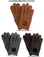 Men's Classic Driving Gloves Soft Genuine Real Lambskin Leather Mesh New Gloves