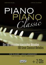 HAGE Kölbl: Piano Piano Classic + 2 CD's! 100 klassische Melodien Klavier EH3777