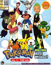DVD Anime Pokemon Best Wishes! Complete TV Series 1-142 End English Sub Region 0