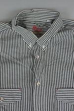 van Laack Royal Herrenhemd grau / weiß gestreift Modell St. Moritz (184)